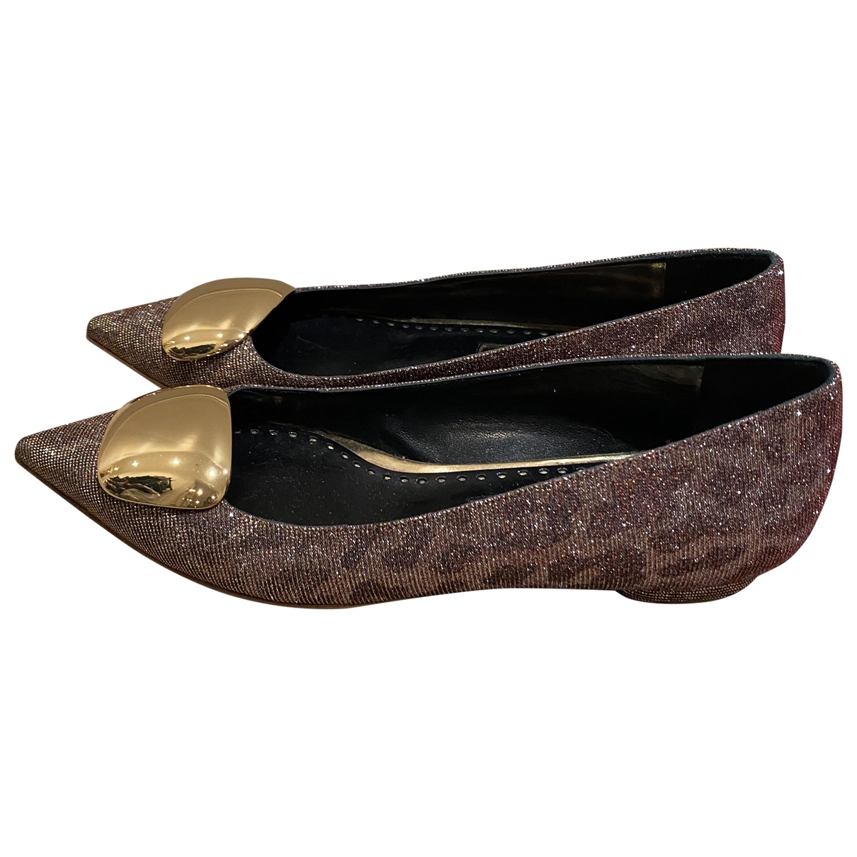 Rupert Sanderson \N Brown Glitter Flats for Women 38.5 EU