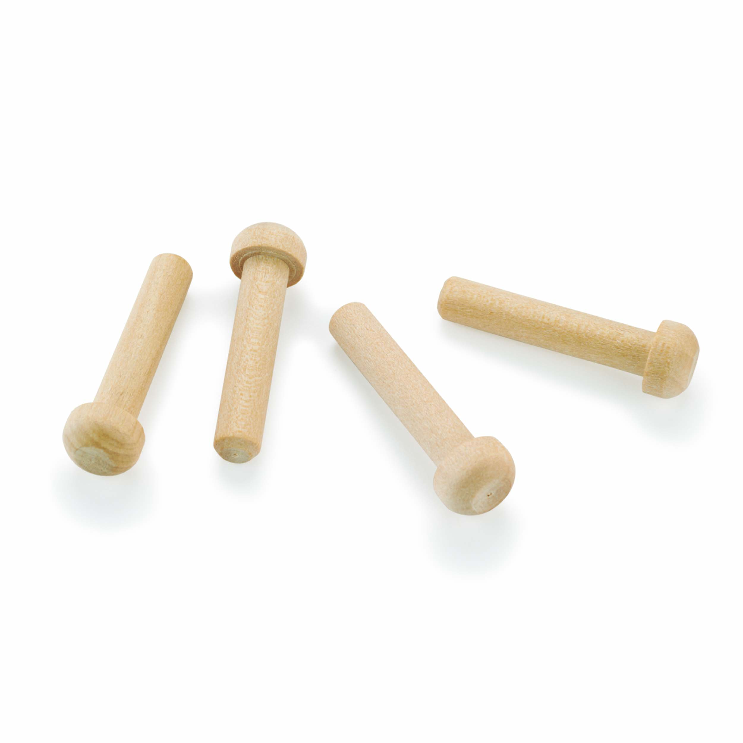 Axle Pegs 7/32 Diameter x 1-3/16 Long, Maple 8-piece