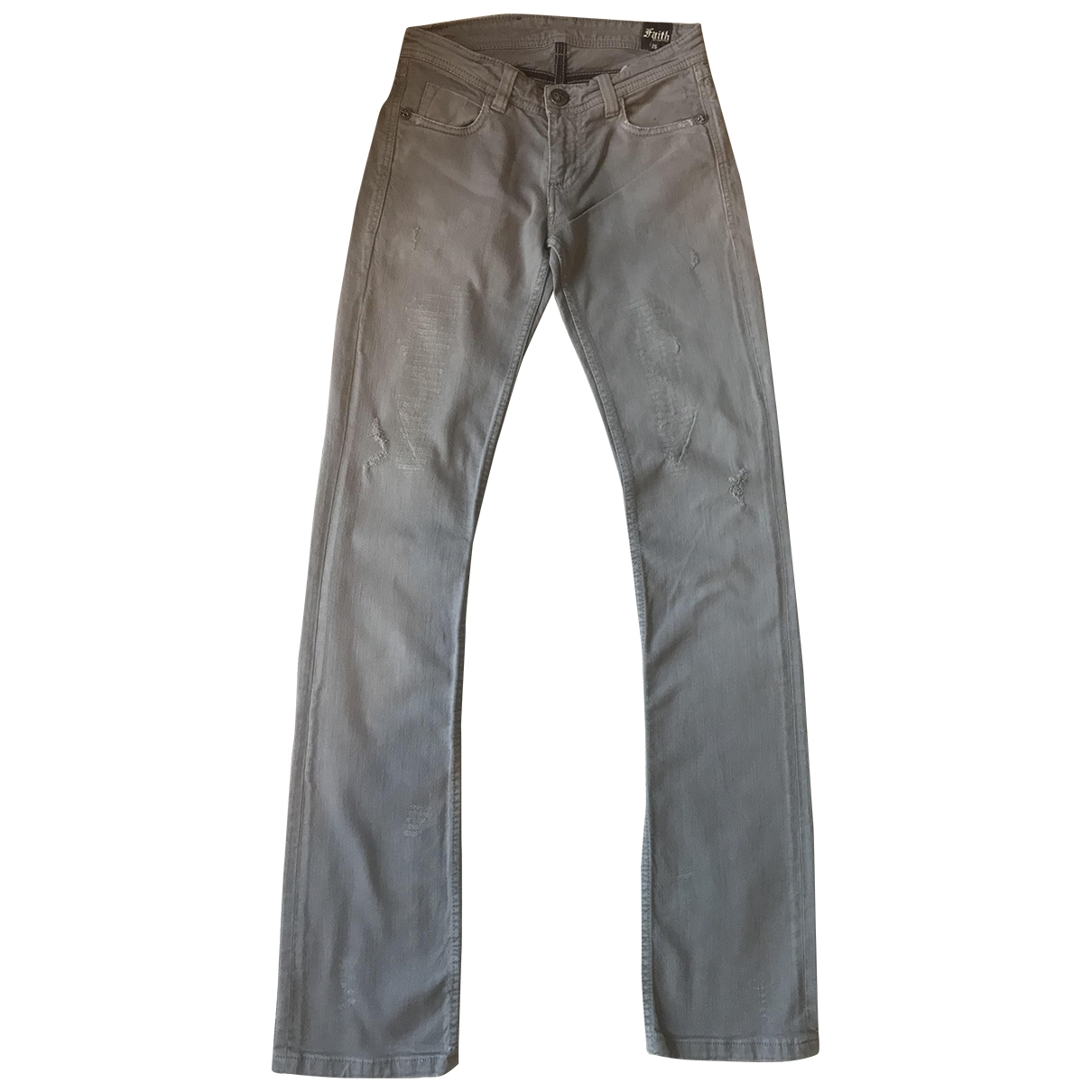 Faith Connexion \N Grey Cotton Jeans for Women 26 US