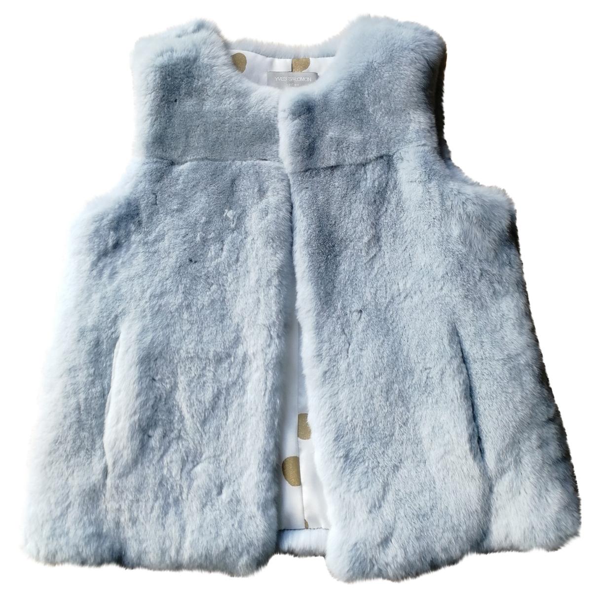 Yves Salomon \N Blue Rabbit jacket & coat for Kids 8 years - up to 128cm FR