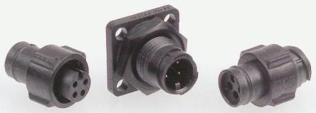 Deutsch Housing, 12 contacts Cable Mount Socket, Crimp IP67
