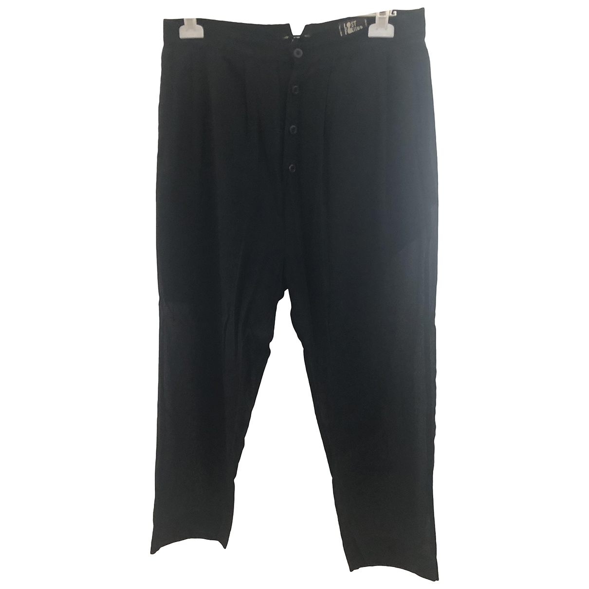 Lost & Found Ria Dunn \N Black Cotton Trousers for Men S International