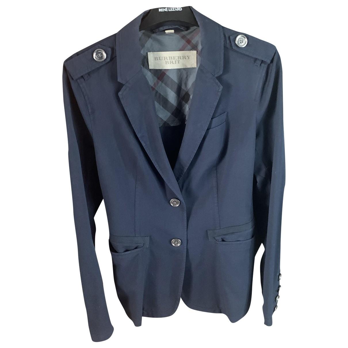 Burberry \N Blue Wool jacket for Women M International