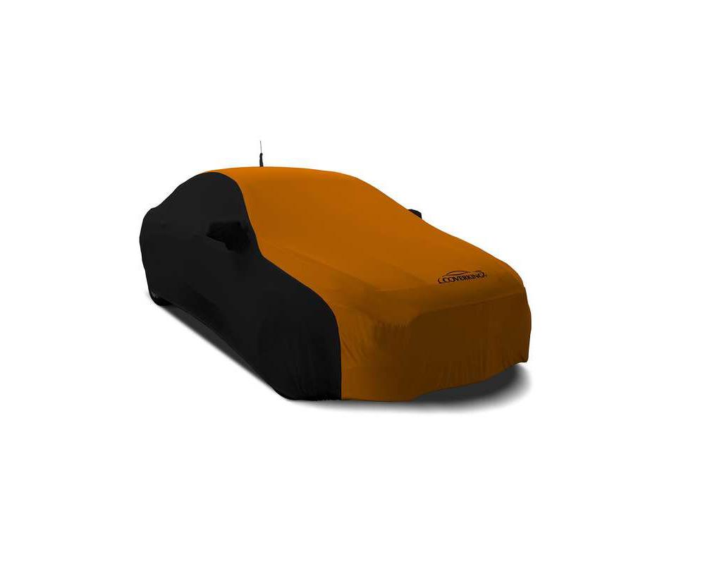 Coverking CVC2SS281MA9416 CVC2SS281 Satin Stretch 2-Tone Black Sides Garbber Orange Center Custom Car Cover Mazda MX-5 Miata 2016-2021