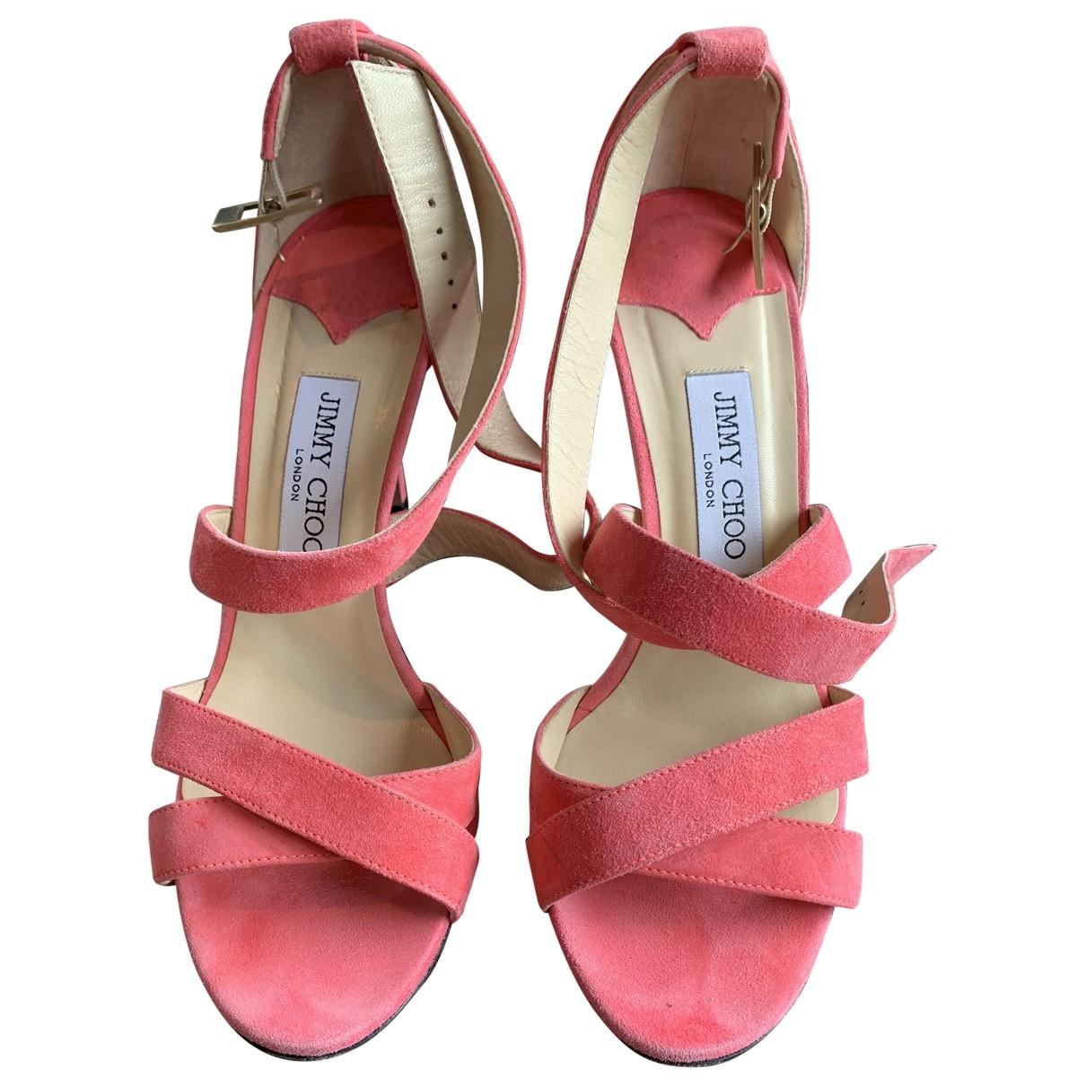 Jimmy Choo \N Pink Suede Sandals for Women 39 EU
