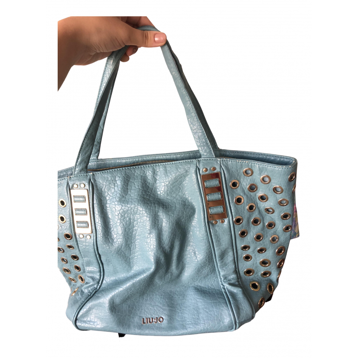 Liu.jo \N Turquoise Patent leather handbag for Women \N