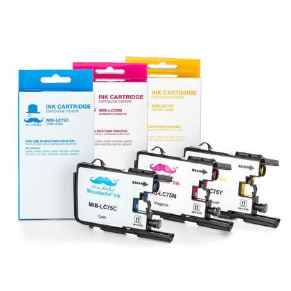 Compatible Brother MFC-J6710DW couleur cartouches encre c/m/y de Moustache, ensemble de 3 - haut rendement