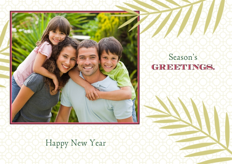Holiday Photo Cards 5x7 Cards, Premium Cardstock 120lb with Rounded Corners, Card & Stationery -Greetings