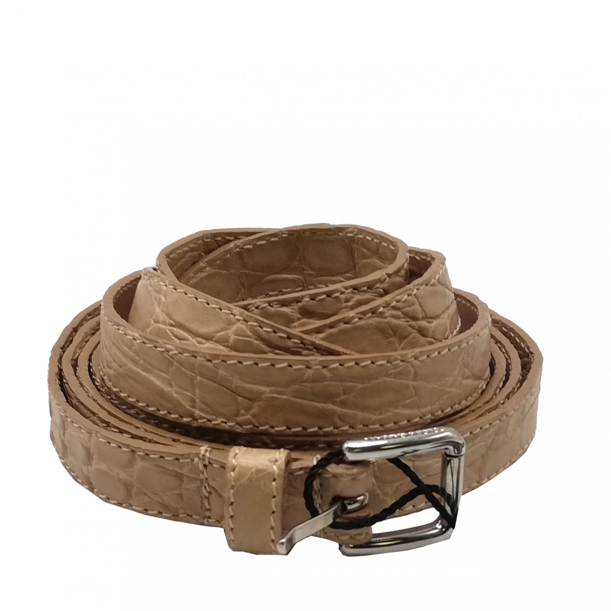 Dolce & Gabbana \N Beige Crocodile belt for Women 85 cm