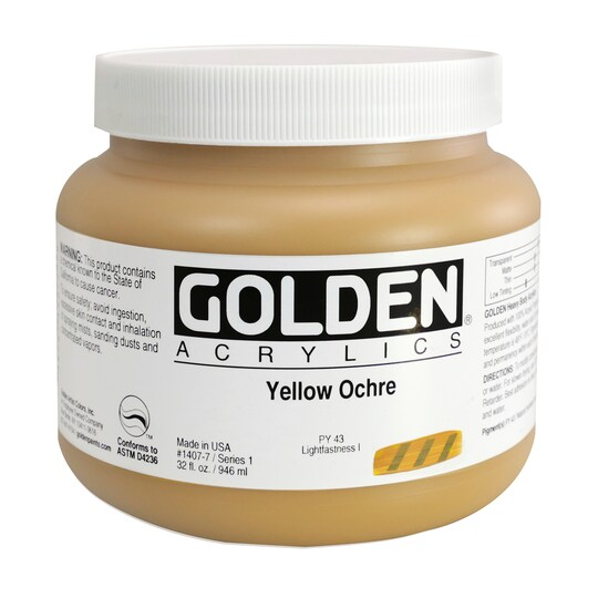 Golden® Heavy Body Acrylics, 32 oz Paint in Yellow Ochre   Michaels®