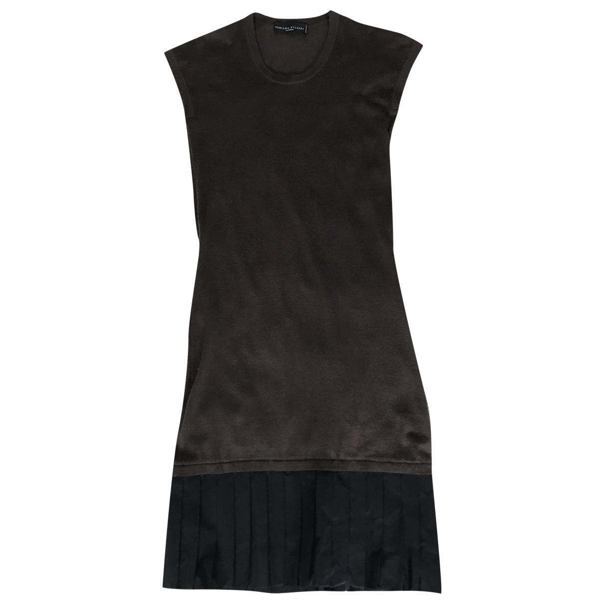 Fabiana Filippi \N Brown Cashmere dress for Women 44 IT
