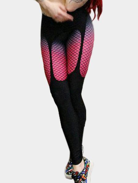 Yoins Fashion Random Floral Print Bodycon Fit Leggings