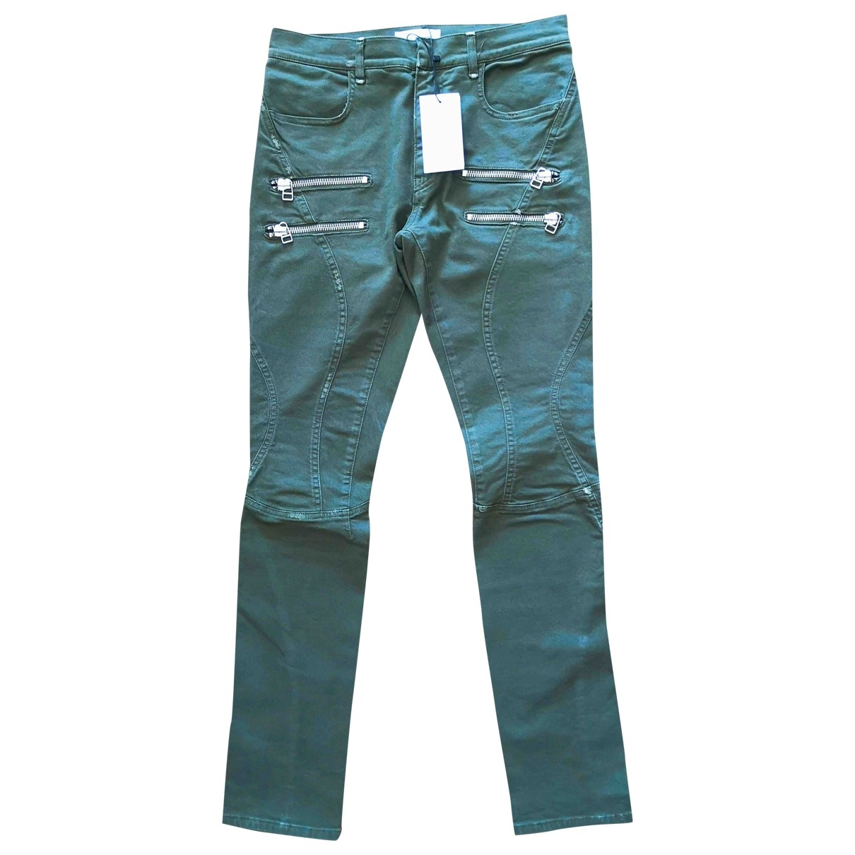 Faith Connexion \N Green Cotton - elasthane Jeans for Men 30 US