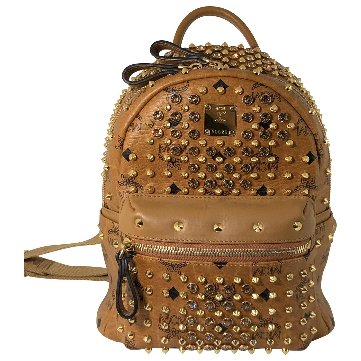 Mcm Stark Brown Leather backpack for Women \N