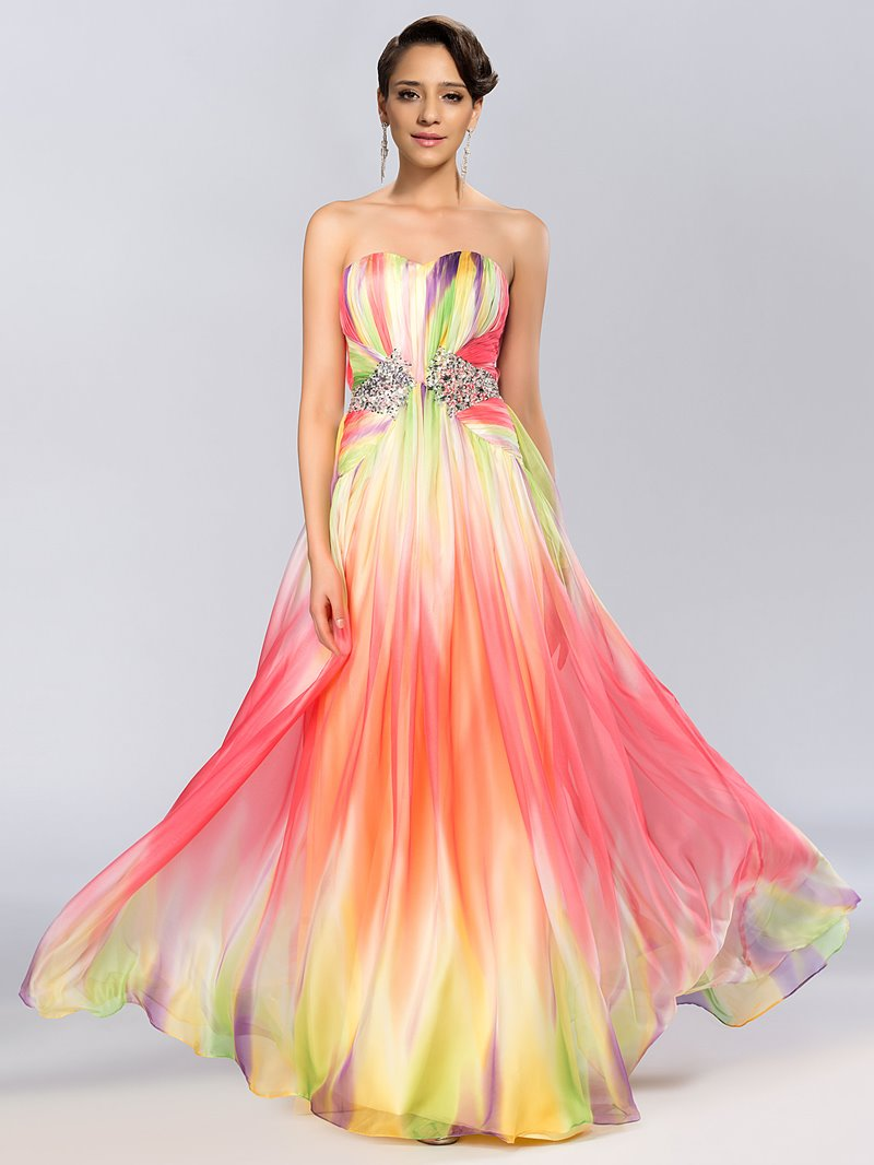 Sweetheart A-Line Floor-Length Prom Dress