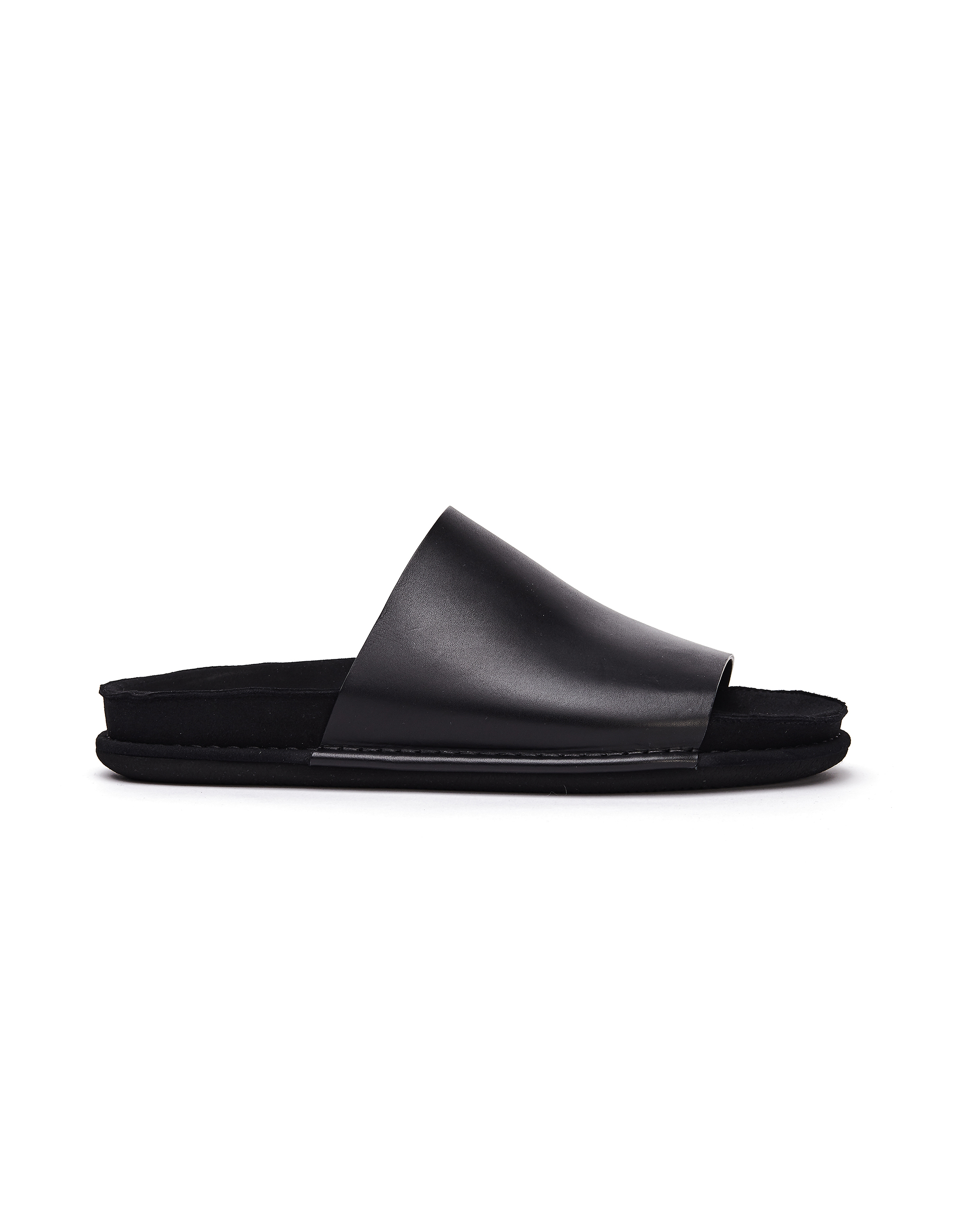 Ann Demeulemeester Black Leather Slippers