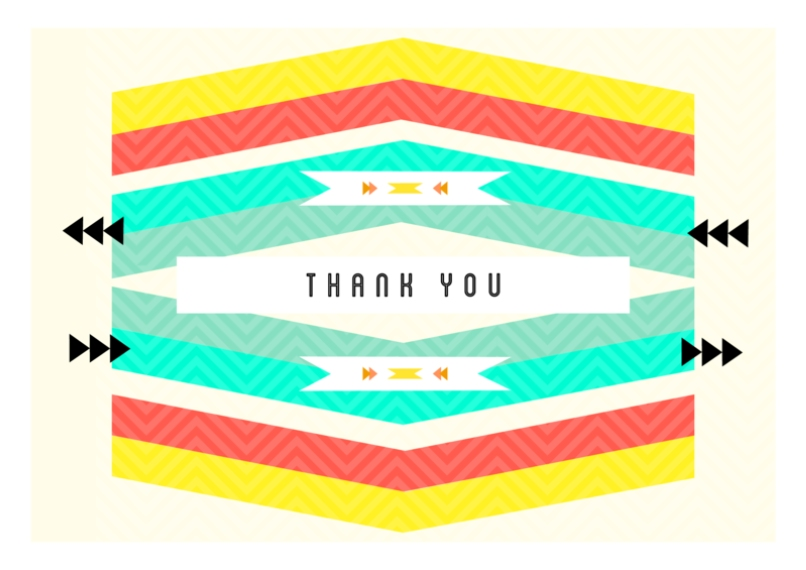 Thank You Cards 5x7 Cards, Premium Cardstock 120lb with Elegant Corners, Card & Stationery -Navajo Thank You