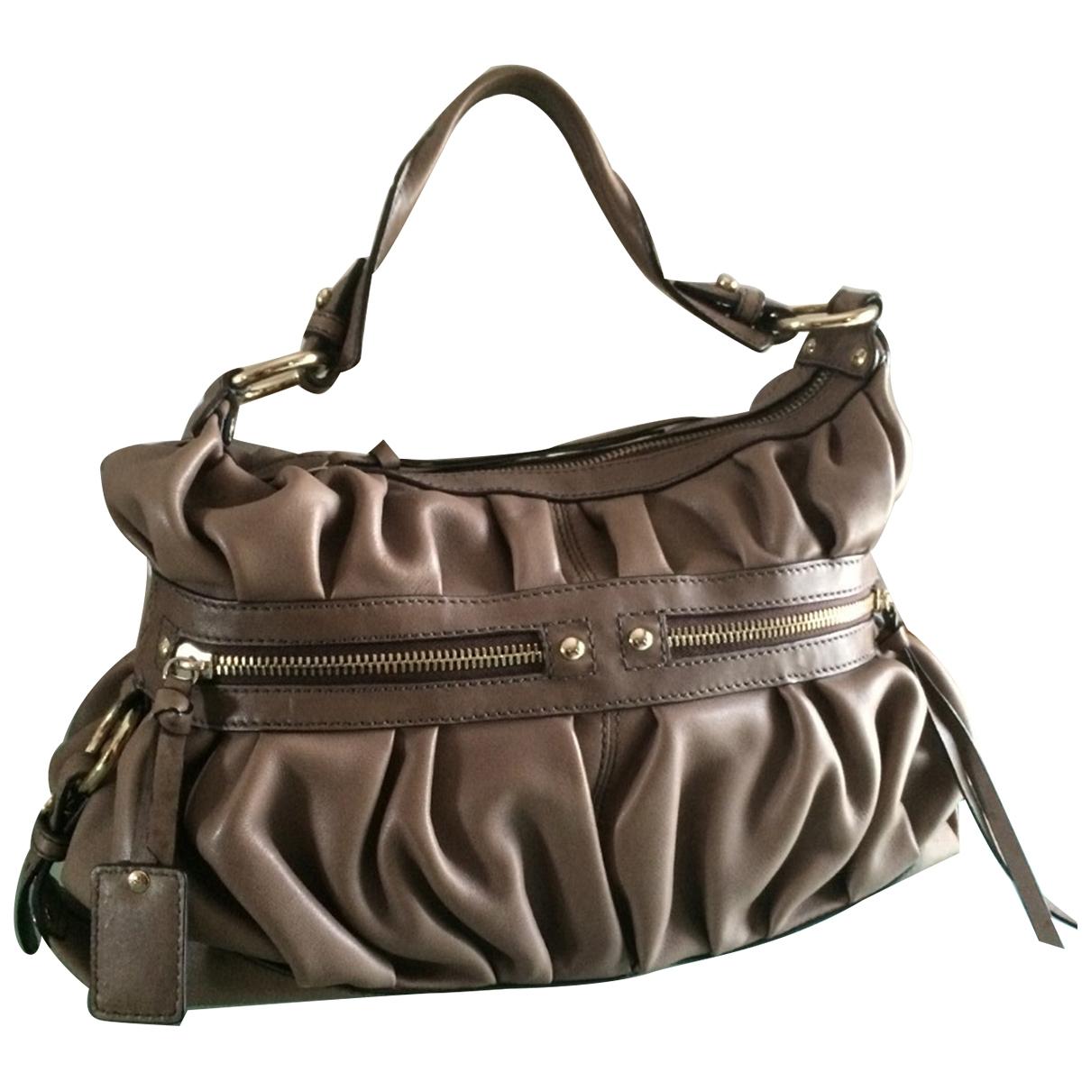 Coccinelle \N Khaki Leather handbag for Women \N