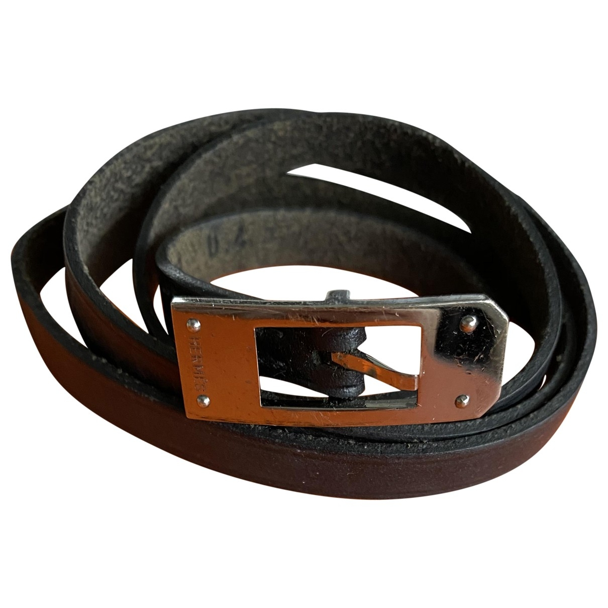 Hermès Hapi Black Leather bracelet for Women \N