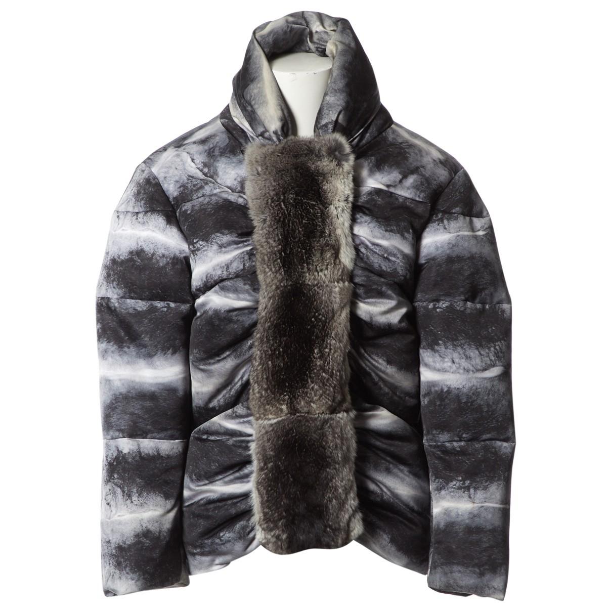 Moncler Gamme Rouge Grey Chinchilla coat for Women 1 0-5