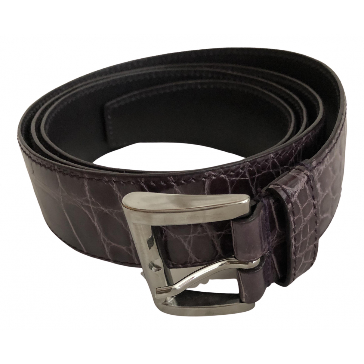 Prada \N Purple Leather belt for Women 95 cm