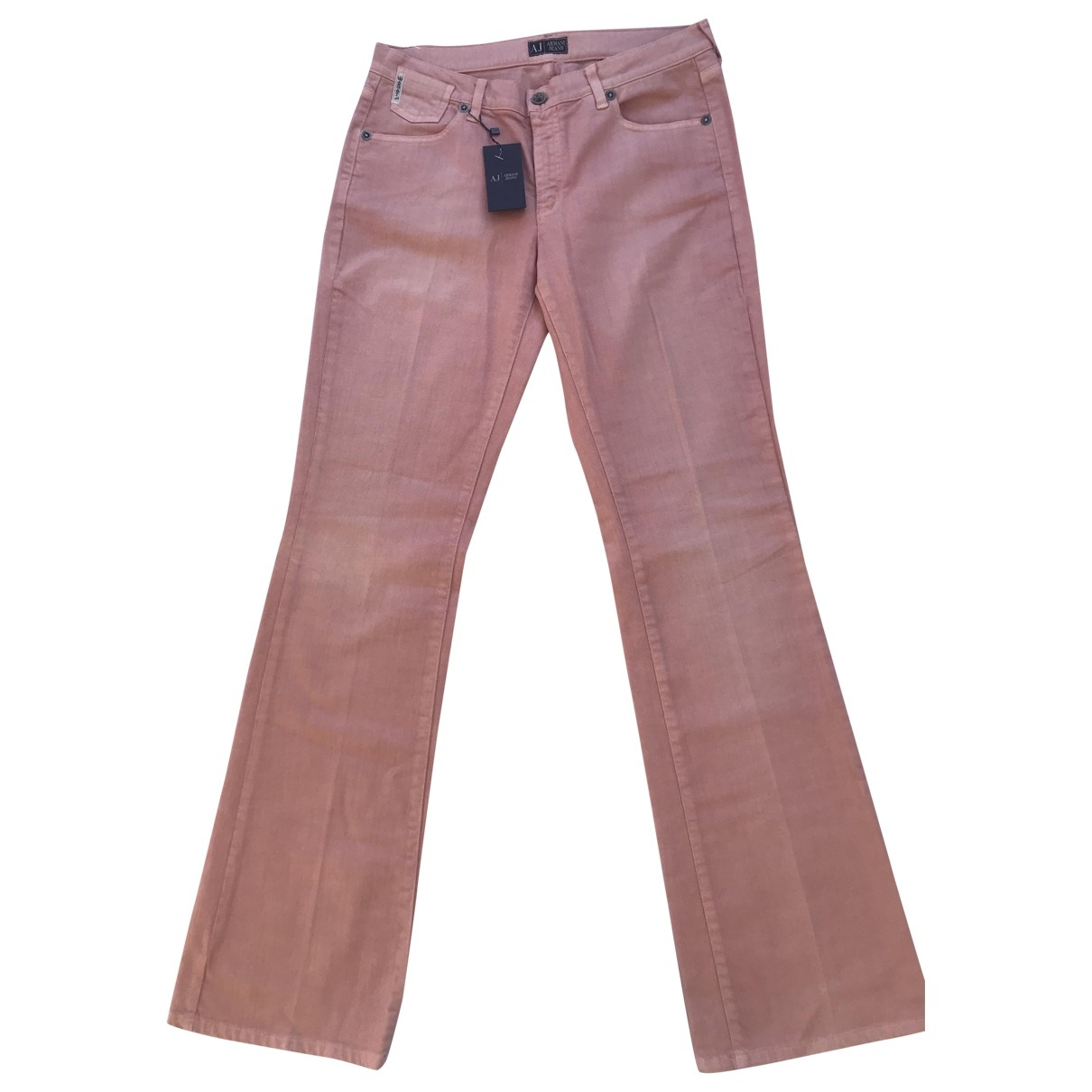 Armani Jeans \N Pink Cotton Trousers for Women 42 FR