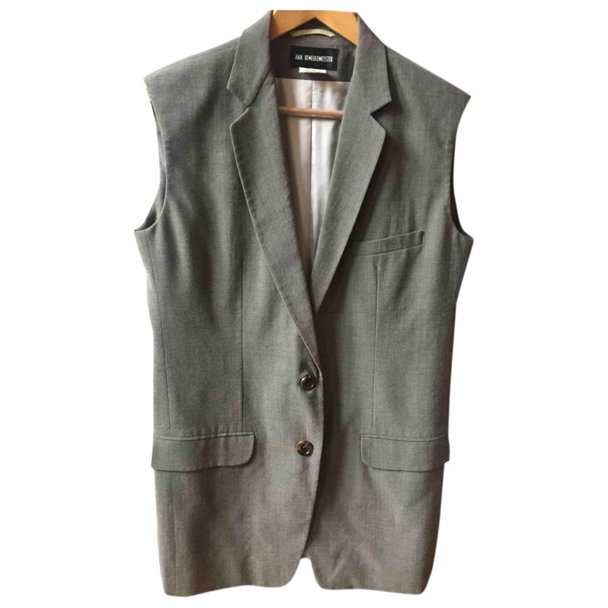 Ann Demeulemeester \N Grey Wool jacket for Women 38 FR