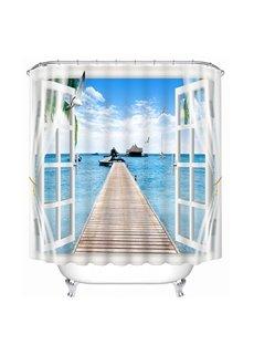 High-Quality Beautiful Scenery Print 3D Bathroom Shower Curtain