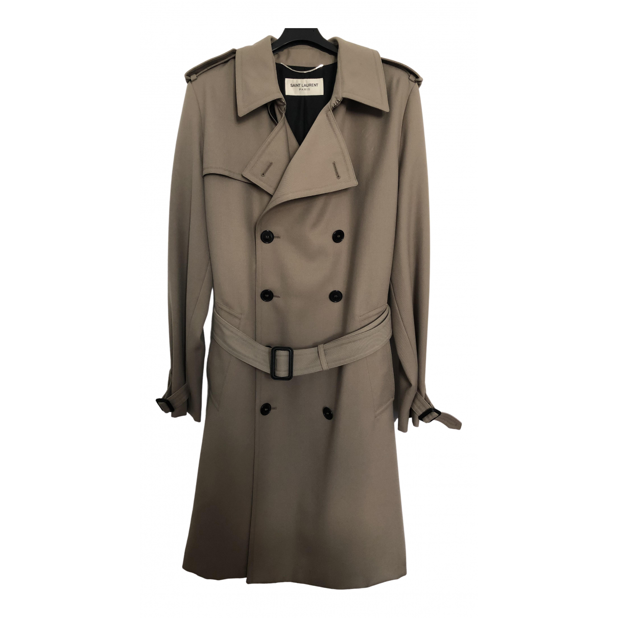 Saint Laurent \N Beige Cotton coat  for Men 46 IT