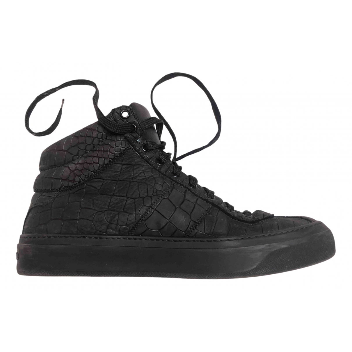 Jimmy Choo \N Anthracite Leather Trainers for Men 43 EU