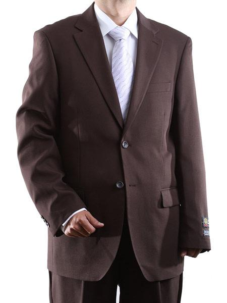 Men's Fully Lined 2 Button Single Breasted 100% Polyester Dress Suit