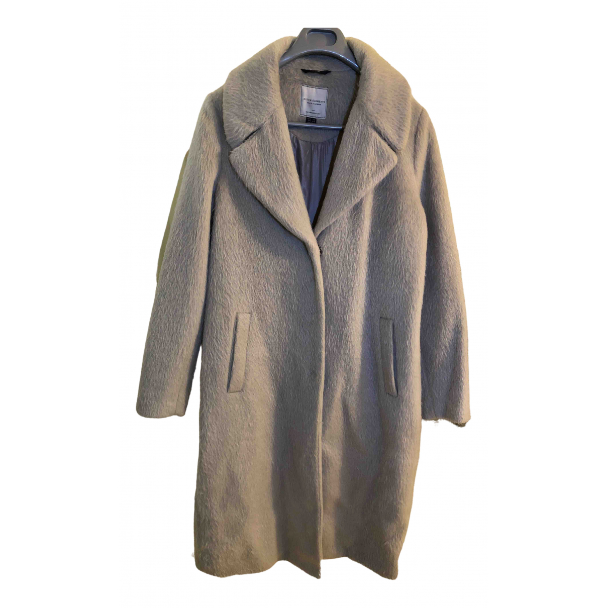 Non Signé / Unsigned Oversize Grey coat for Women 44 FR