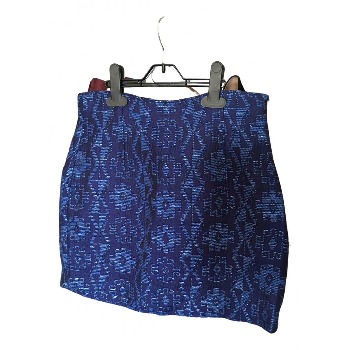 Zara \N Blue Cotton skirt for Women 34 FR
