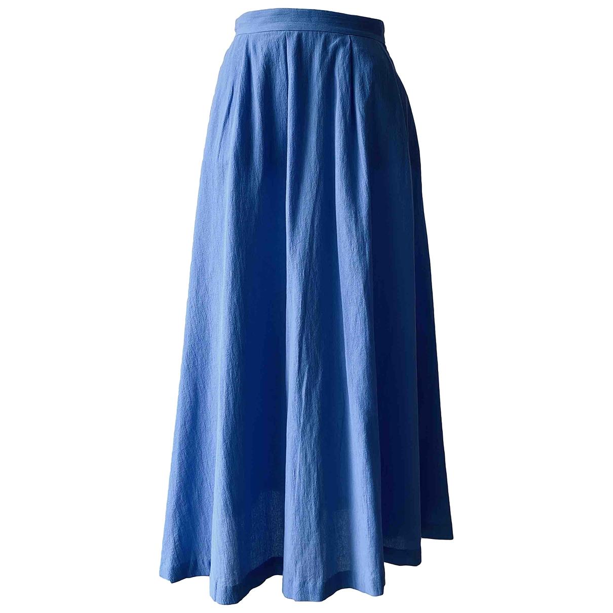 & Stories \N Blue Cotton skirt for Women 34 FR