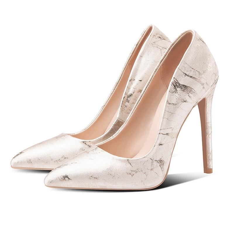 Ericdress Stiletto Heel Pointed Toe Slip-On Banquet Pumps