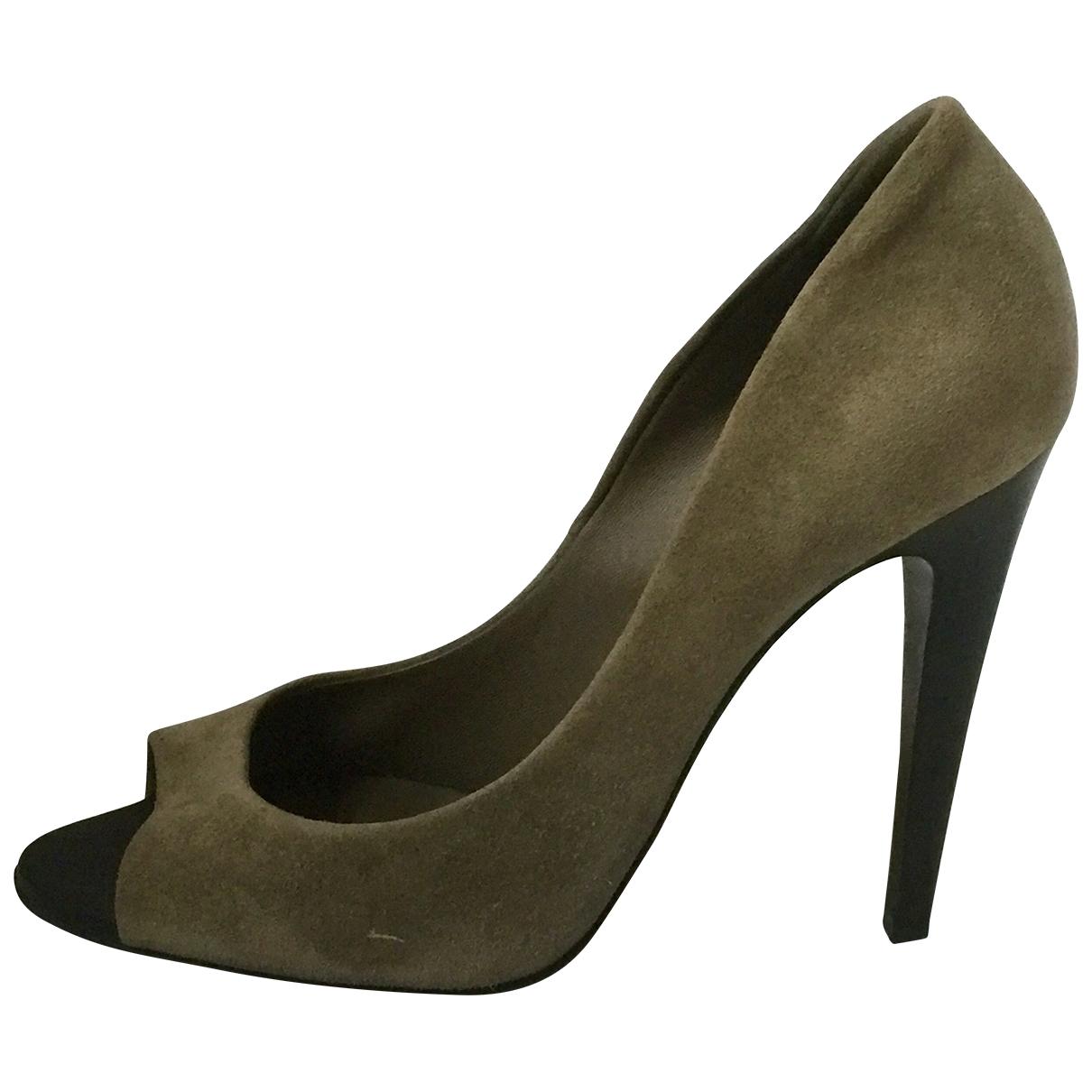Bottega Veneta \N Grey Suede Heels for Women 38 EU