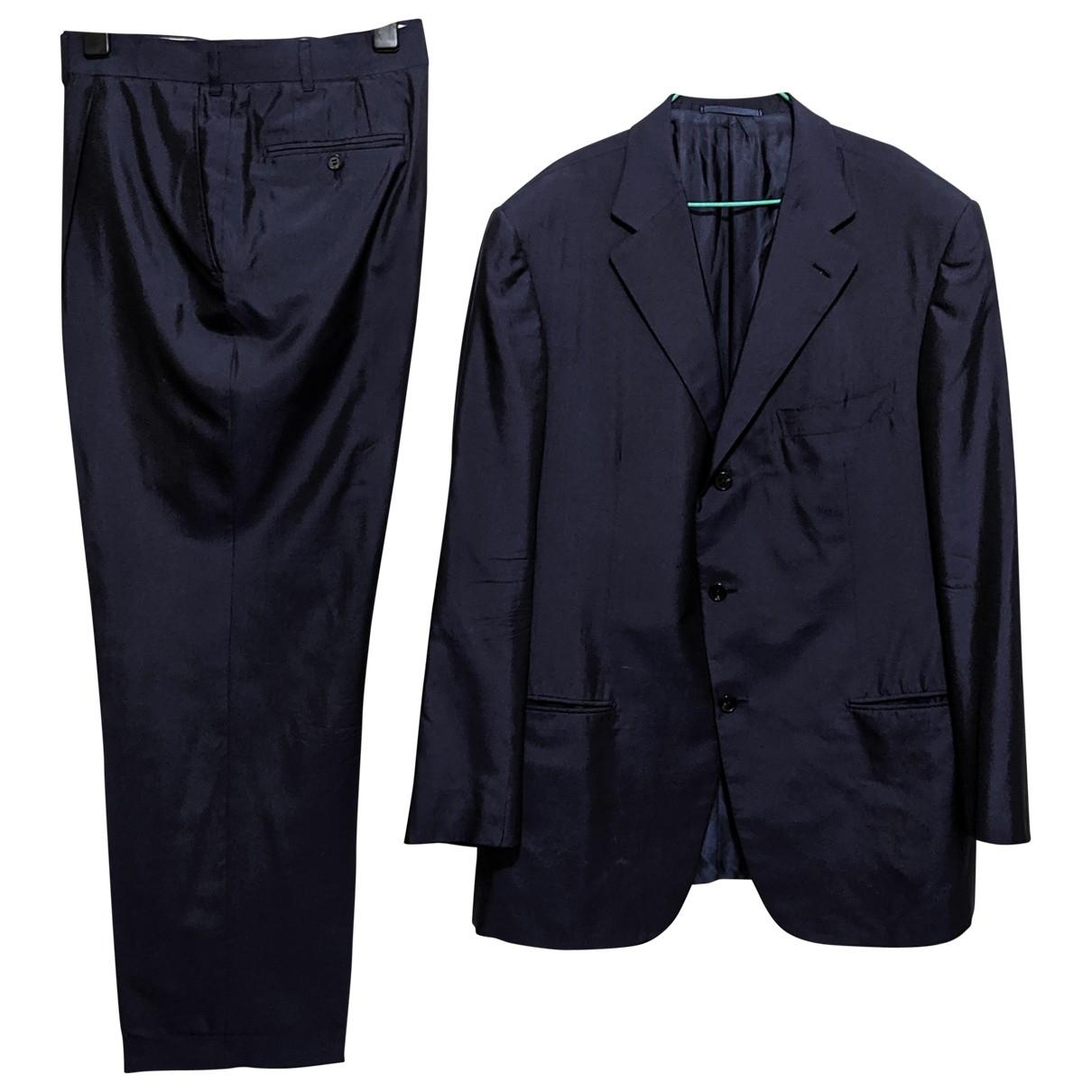 Ermenegildo Zegna \N Blue Silk Suits for Men 54 IT