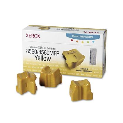 Xerox 108R00725 Original Yellow Solid Ink Sticks - 3 Sticks/Pack