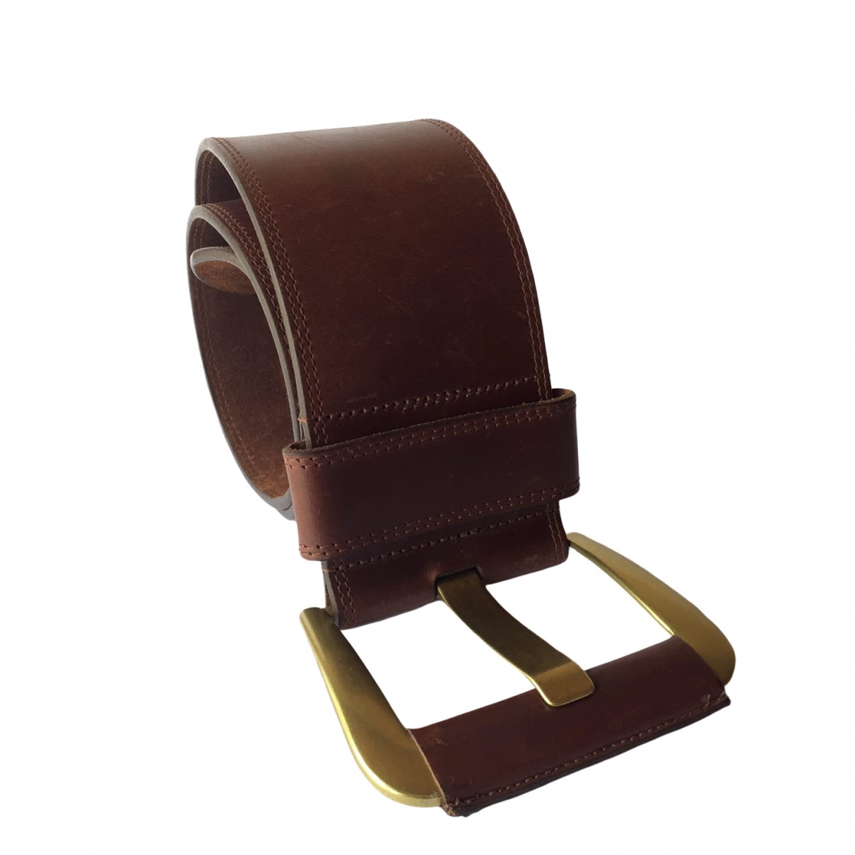 Non Signé / Unsigned \N Brown Leather belt for Women 31 Inches