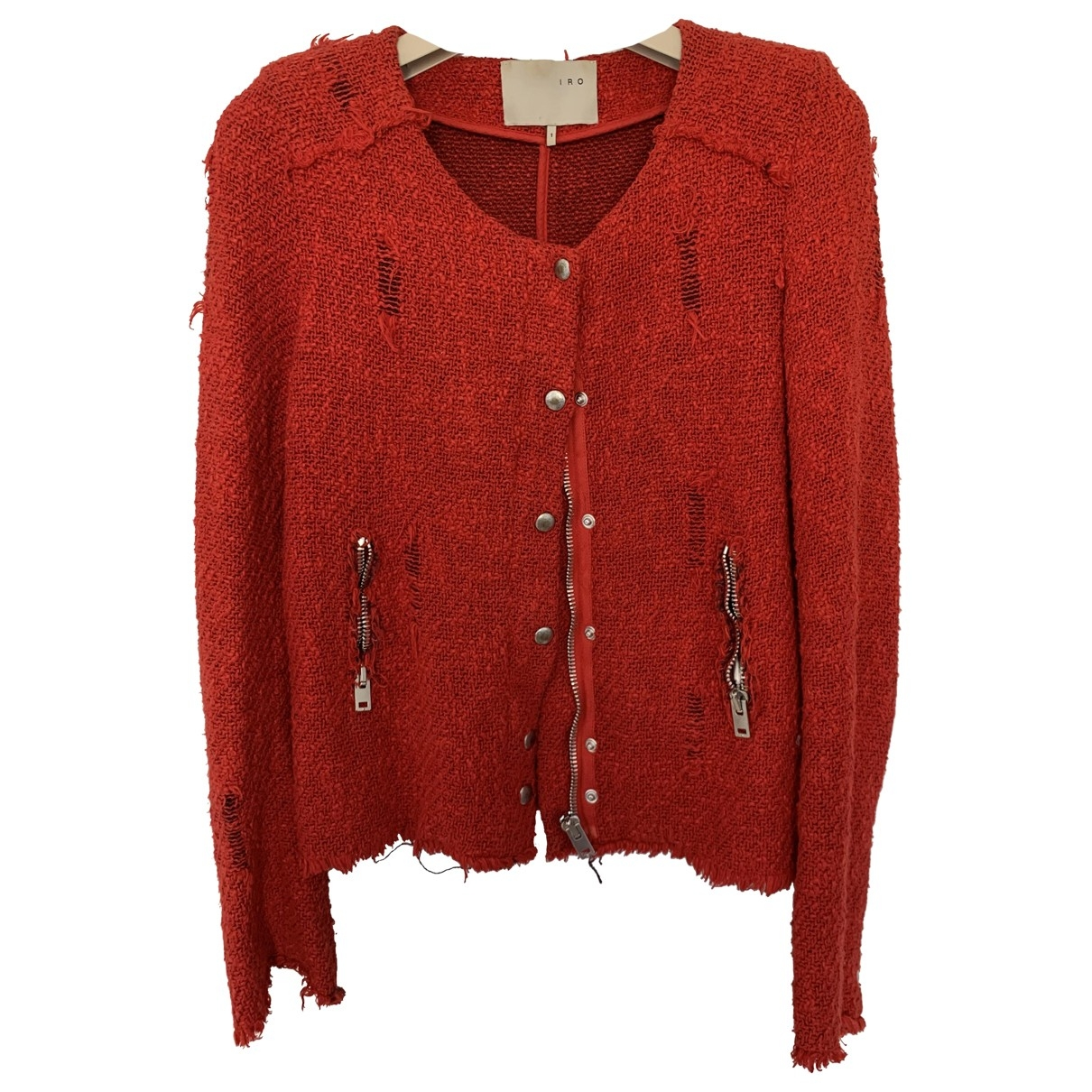Iro \N Red Cotton jacket for Women 1 0-5