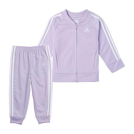 adidas Little Girls 2-pc. Track Suit, 6x , Purple