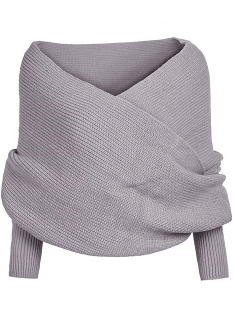 Ericdress V-neck Thick Plain Knitwear