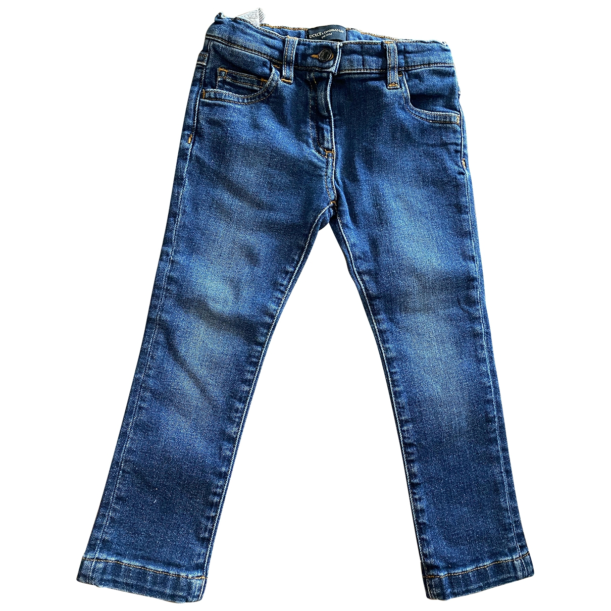 Dolce & Gabbana \N Blue Cotton Trousers for Kids 2 years - up to 86cm FR