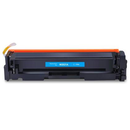 Compatible HP 414A W2021A cartouche de toner cyan - sans puce - boîte économique