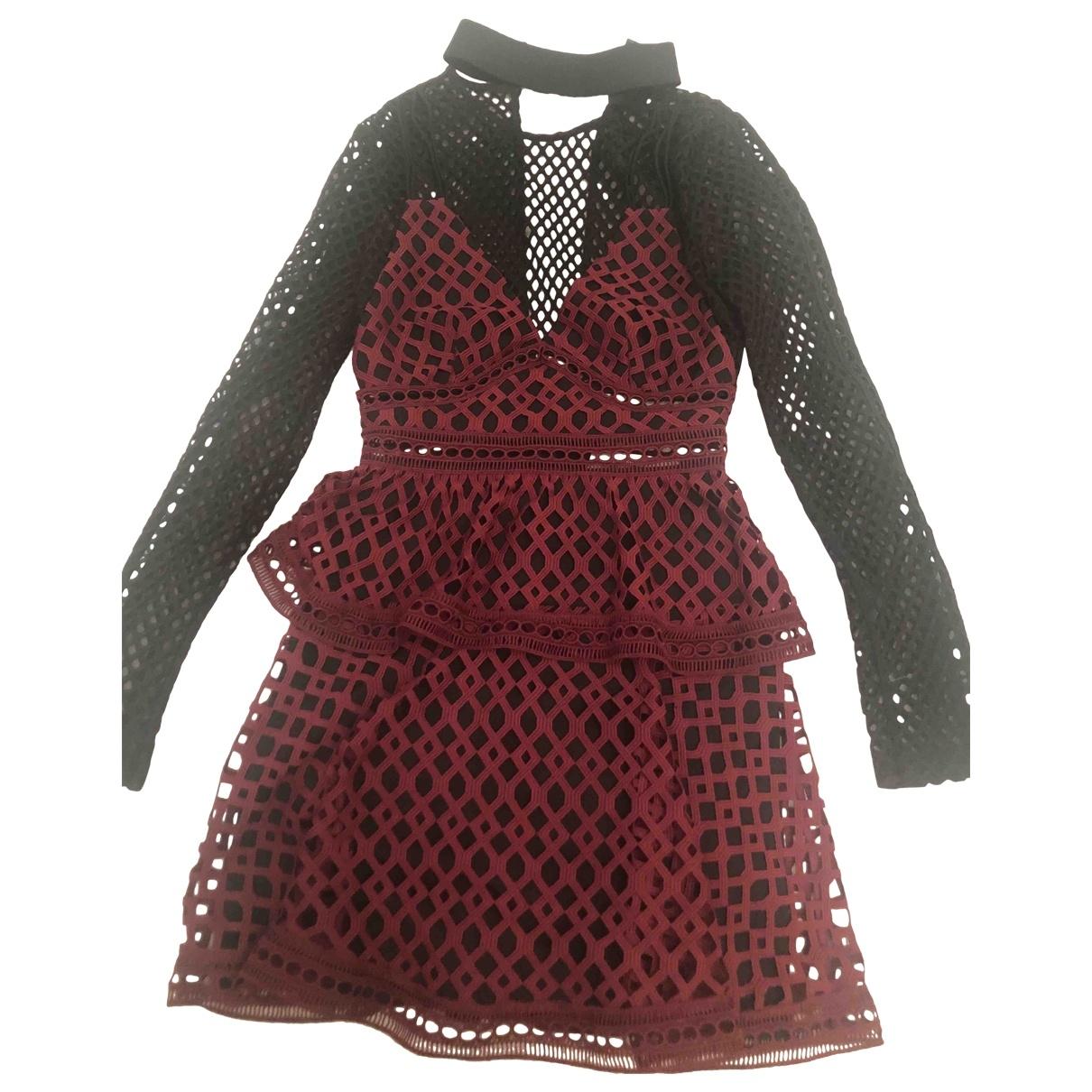 Self Portrait \N Burgundy dress for Women 6 UK