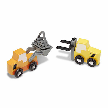 Melissa & Doug Wooden Construction Site Vehicles, One Size , Multiple Colors