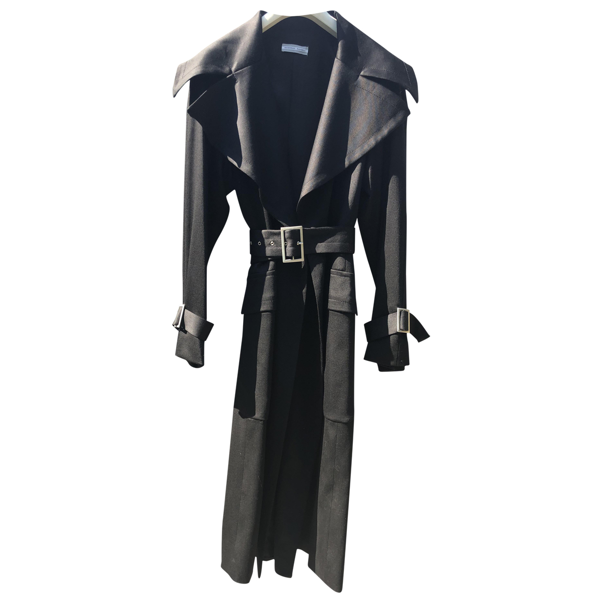Non Signé / Unsigned \N Black Wool coat for Women 42 IT