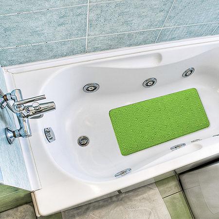 Popular Bath Waffle Weave Tub Mat, One Size , Green