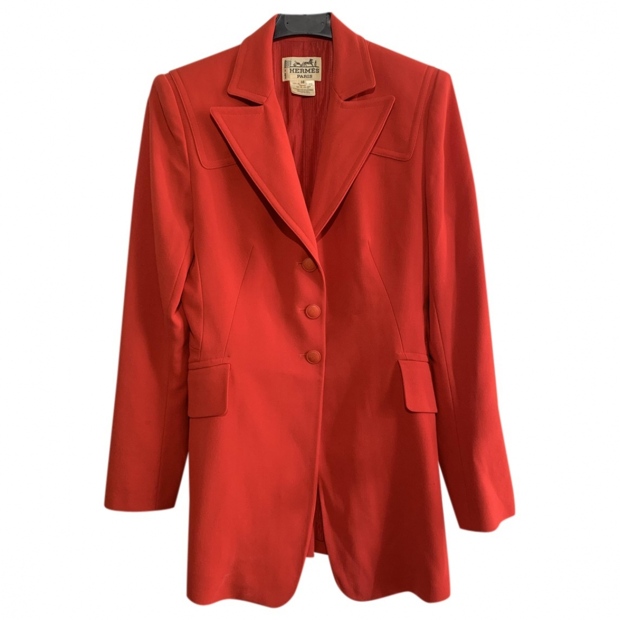 Hermès \N Red Wool jacket for Women 38 FR