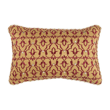 Croscill Classics Arden 18x12 Boudoir Throw Pillow, One Size , Red